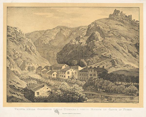 Jakob Alt, A.C. von Mayr – Pohľad na zrúcaniny hradu Sorgente