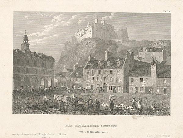 Jiří Döbler - Pohľad na hrad Edinburg