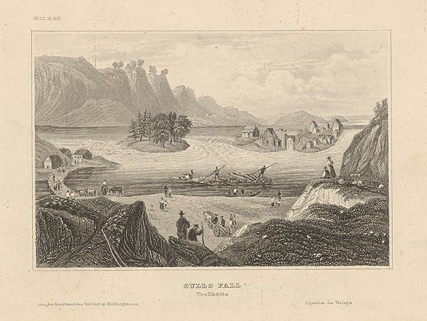 Stredoeurópsky grafik z 19. storočia - Vodopád Gullo Fall