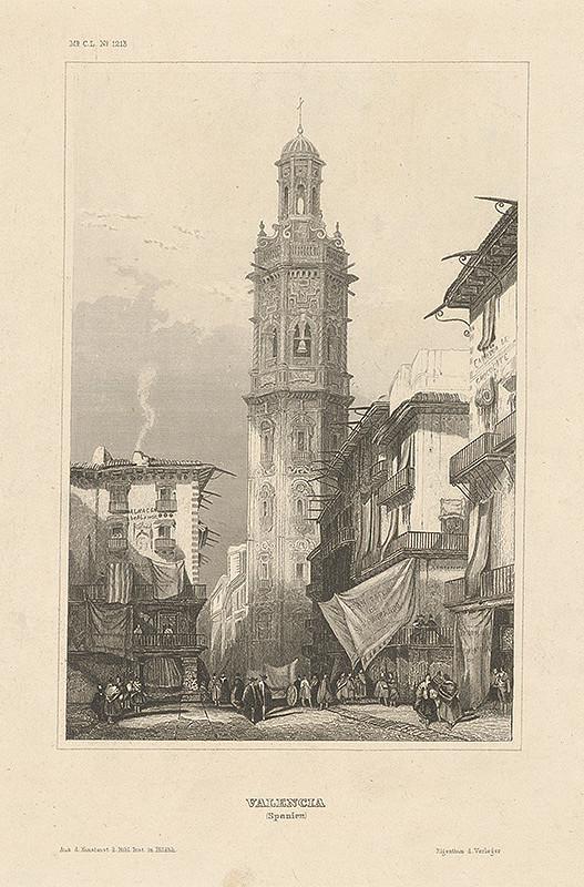 Stredoeurópsky grafik z 19. storočia - Valencia