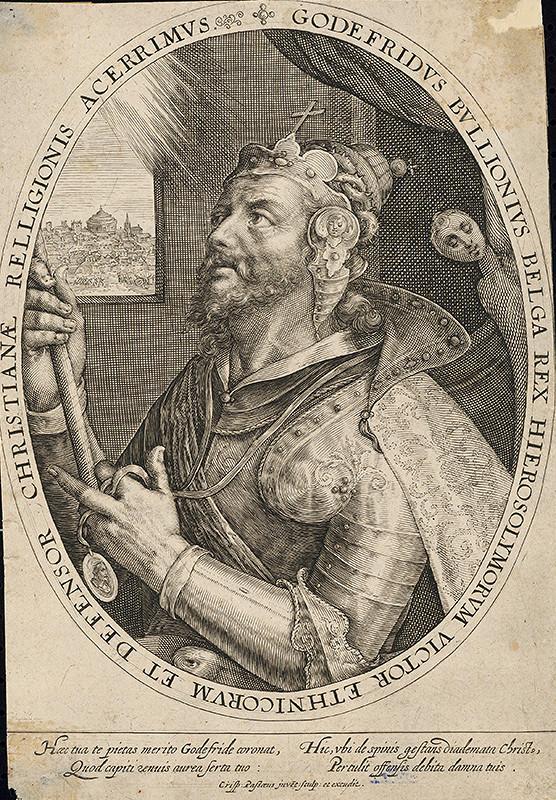 Crispijn de Passe st. – Idealizovaný portrét Godefroya de Bouillon