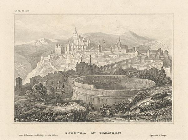 Stredoeurópsky grafik z 19. storočia - Segovia v Španielsku
