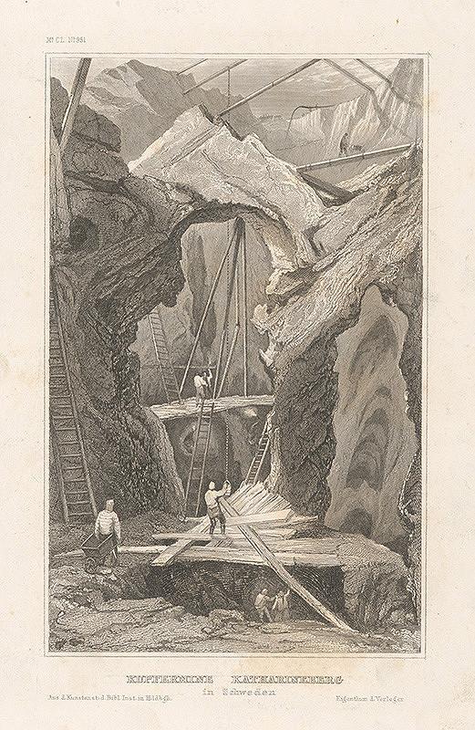 Stredoeurópsky grafik z 19. storočia - Bane na meď vo Švédsku