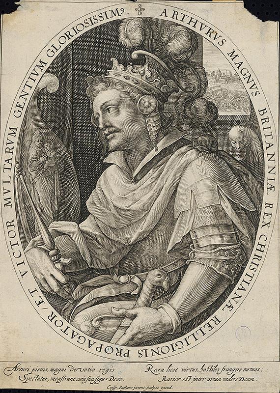 Crispijn de Passe st. - Portrét kráľa Artuša