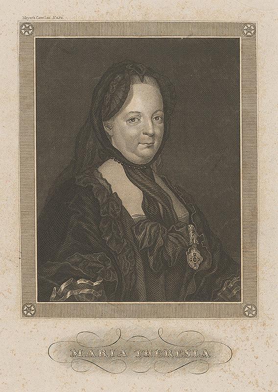 Stredoeurópsky grafik z 18. storočia, Joseph Ducreux – Portrét Márie Terézie