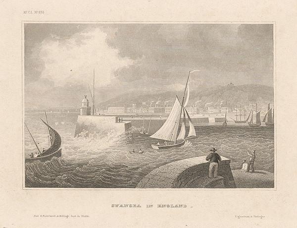 Stredoeurópsky grafik z 19. storočia - Swansea v Anglicku