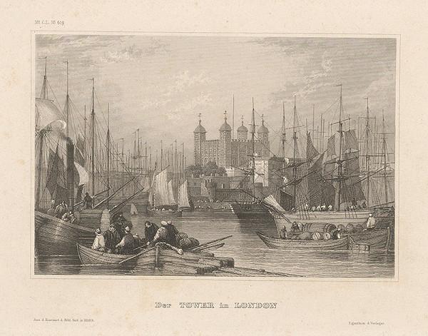 Stredoeurópsky grafik z 19. storočia - Tower v Londýne