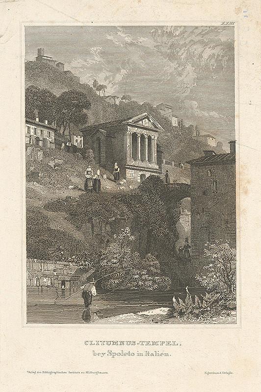 Stredoeurópsky grafik z 19. storočia – Kostol Clitumnus
