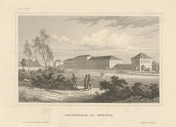 Stredoeurópsky grafik z 19. storočia - Schleissheim pri Mníchove