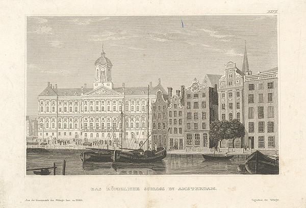 Stredoeurópsky grafik z 19. storočia - Kráľovský zámok v Amsterdame
