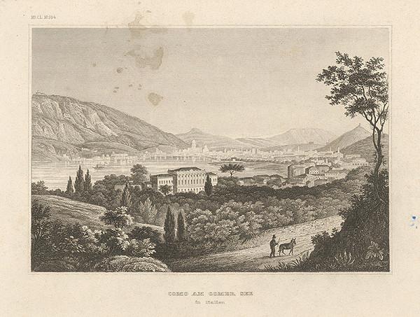Stredoeurópsky grafik z 19. storočia – Como na Comskom jazere