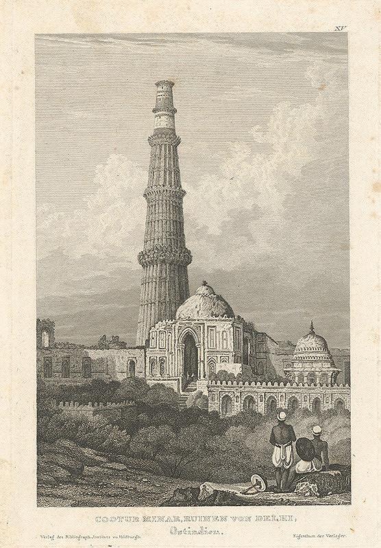 Stredoeurópsky grafik z 19. storočia - Zrúcaniny Cootbuského minaretu