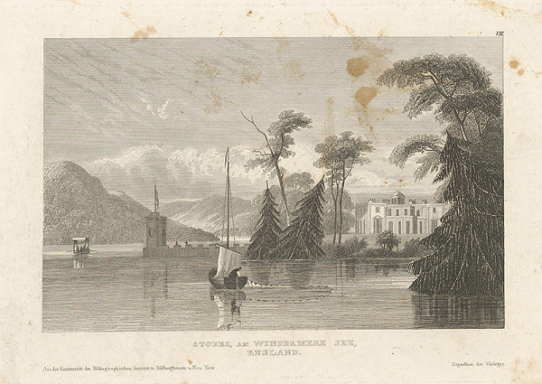 Stredoeurópsky grafik z 19. storočia – Windezmerské jazero