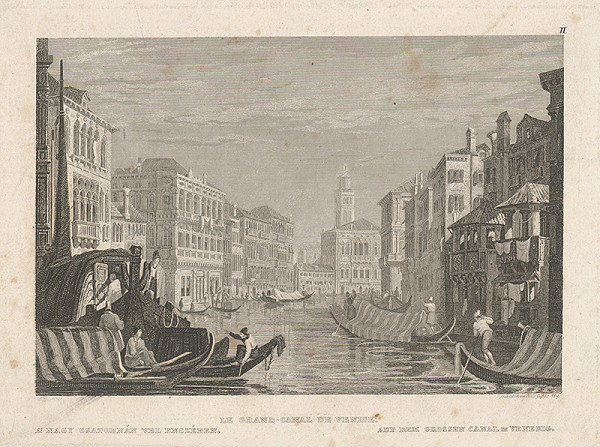 Friedrich Geissler – Veľký kanál v Benátkach