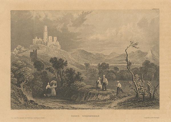 Stredoeurópsky grafik z 19. storočia – Zrúcaniny v Godesbergu