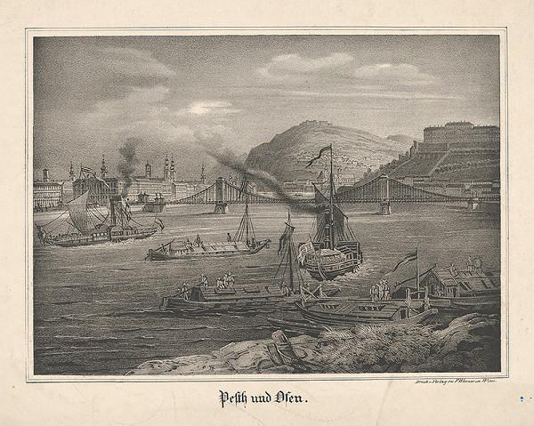 Stredoeurópsky grafik z 19. storočia - Budapešť