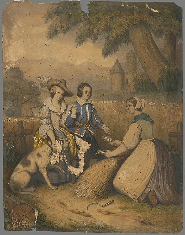 Stredoeurópsky grafik zo začiatku 19. storočia - Pri žatve