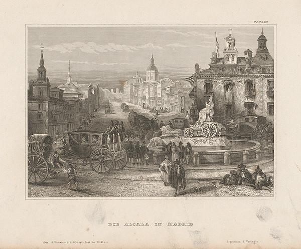 Stredoeurópsky grafik z 19. storočia - Alcala v Madride