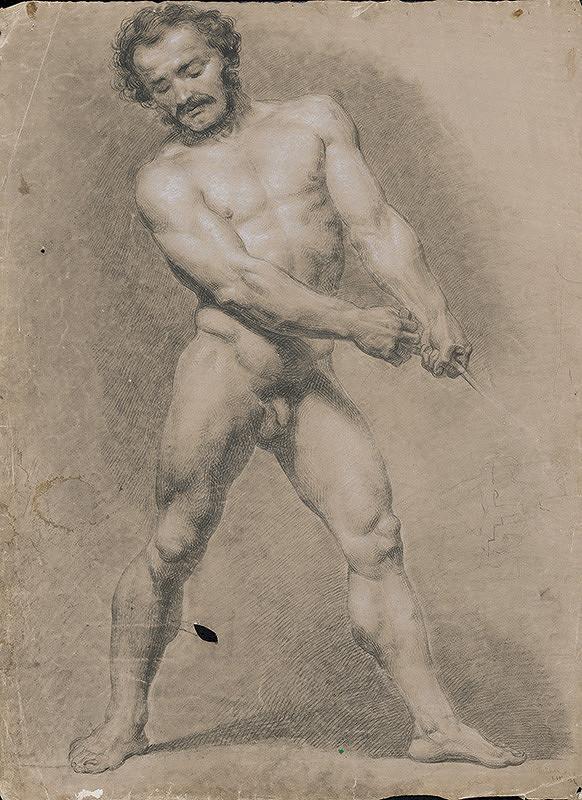Stredoeurópsky grafik z 19. storočia – Mužský akt