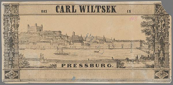 Stredoeurópsky grafik z polovice 19. storočia – Bratislava