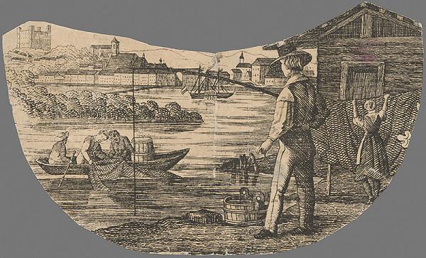 Stredoeurópsky grafik z 19. storočia - Bratislava v 19. storočí-pohľad z juhu