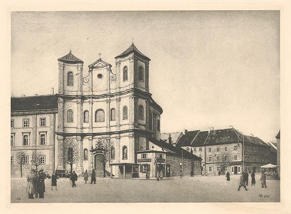 Stredoeurópsky grafik z 1. polovice 20. storočia – Kostol sv. Trojice v Bratislave