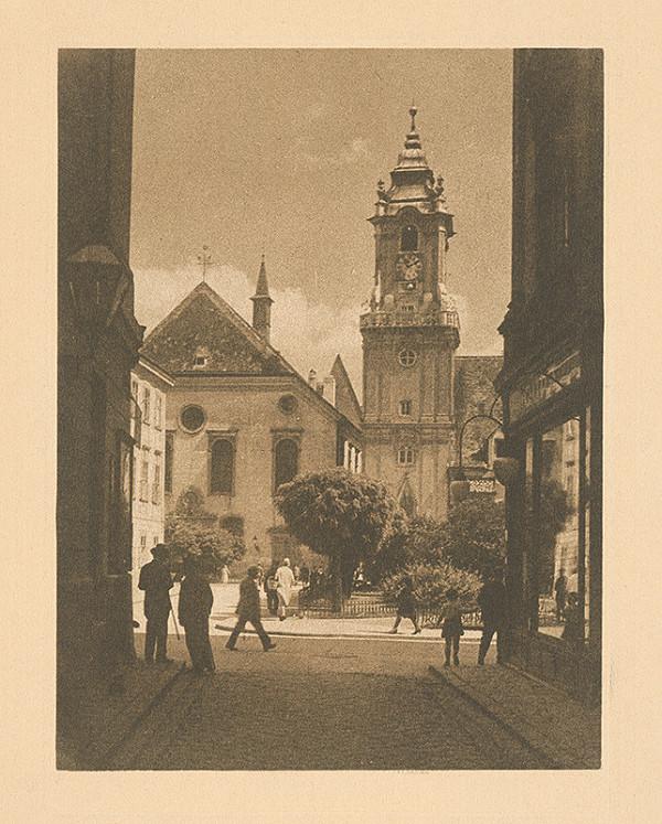 Stredoeurópsky grafik z 20. storočia – Radničná veža v Bratislave
