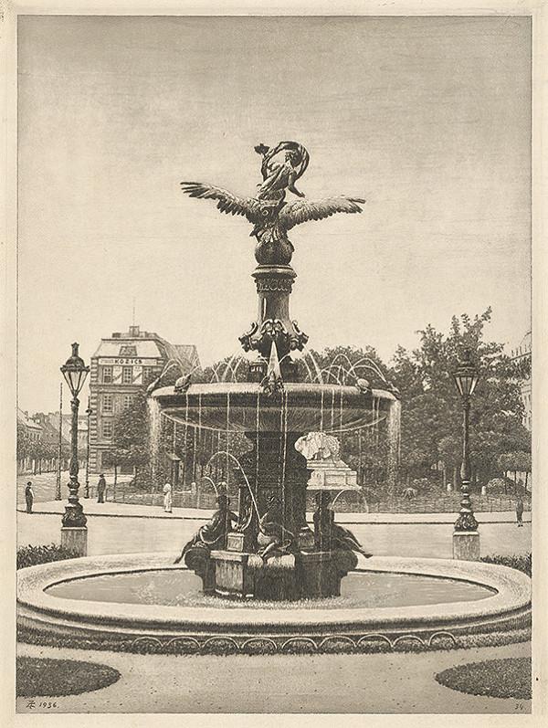 Stredoeurópsky grafik z 1. polovice 20. storočia - Ganymedova fontána v Bratislave
