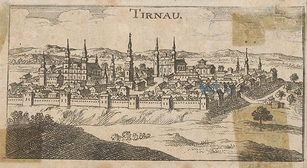 Stredoeurópsky grafik zo 17. storočia, Justus van den Nypoort – Trnava - pohľad na mesto