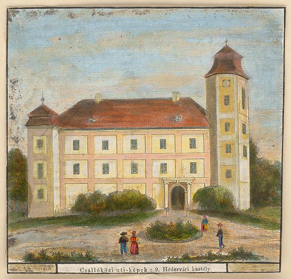 Stredoeurópsky grafik z 19. storočia - Heddrvárovský kaštieľ na Žitnom ostrove