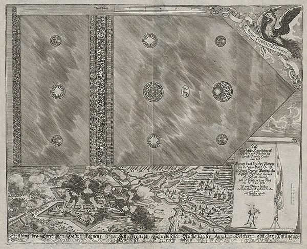 Johann Ulrich Krauss, Bartholomäus Sixtus Kummer - Turecká hlavná zástava a pevnosť Nové Zámky