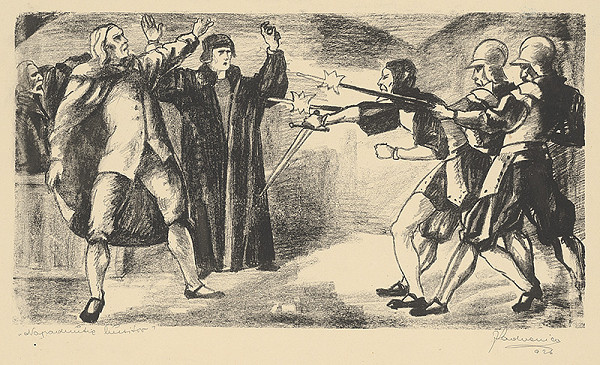 Ján Ladvenica – Napadnutie husitov