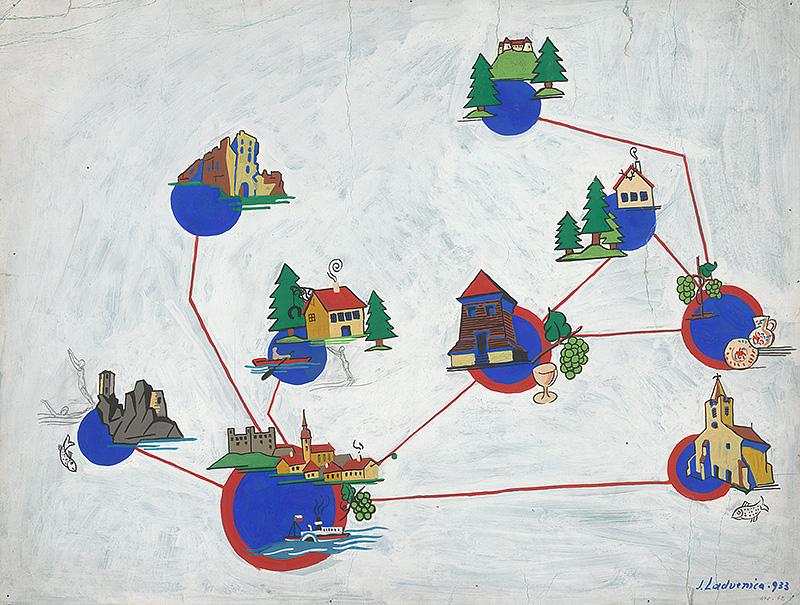 Ján Ladvenica – Mapa pamiatok v okolí Bratislavy, 1933, Galéria mesta Bratislavy