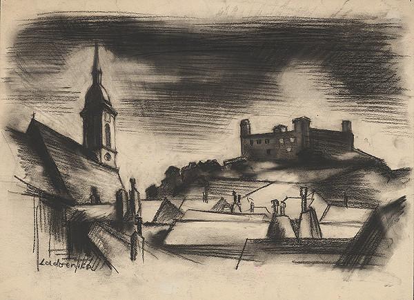 Ján Ladvenica – Pohľad na Bratislavský hrad