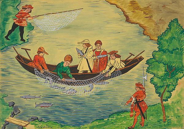 Ján Ladvenica – Rybolov okolo roku 1500