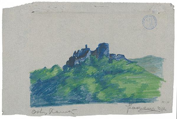 Ján Ladvenica – Zrúcaniny hradu na Ostrom Kameni
