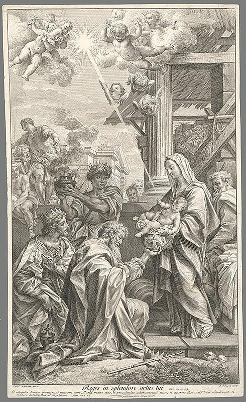 Carlo Maratti, Nicolas Dorigny – Klaňanie troch kráľov