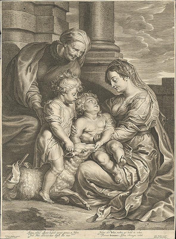 Schelte Bolswert, Peter Paul Rubens, Gillis Hendricx - Mária s dieťaťom, sv. Annou a Jánom Krstiteľom