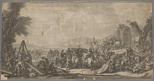 Stredoeurópsky grafik zo 17. storočia – Vojenský tábor