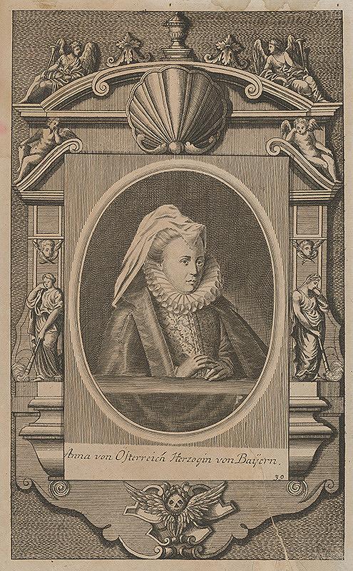 Stredoeurópsky grafik z 2. polovice 18. storočia - Portrét Anny Rakúskej