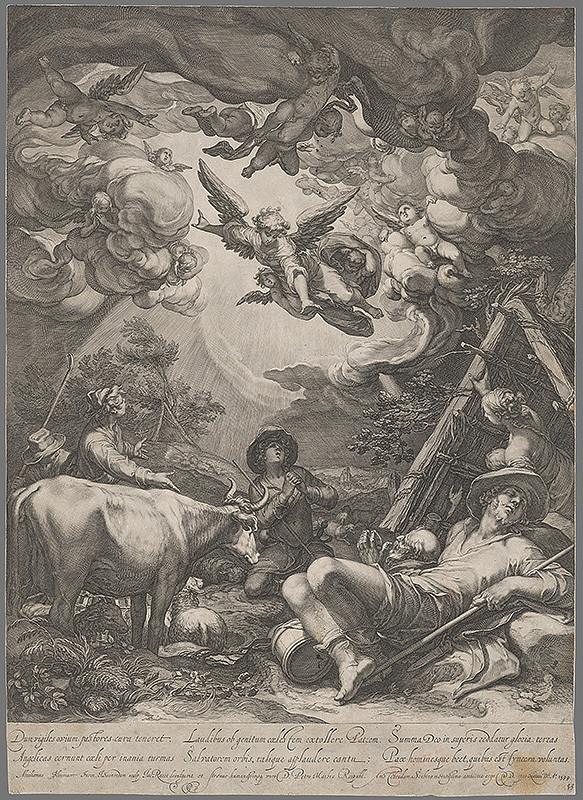 Jan Pietersz Saenredam, Abraham Bloemaert - Zvestovanie pastierom