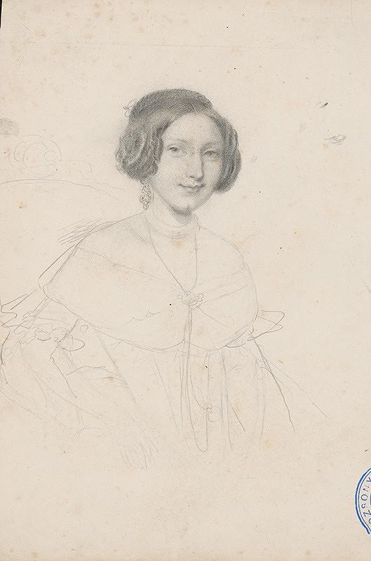 Stredoeurópsky maliar z 2. polovice 19. storočia – Portrét ženy