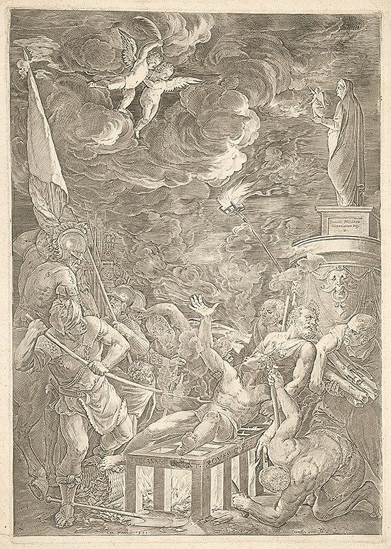 Cornelis Cort, Titian - Martýrium sv. Vavrinca