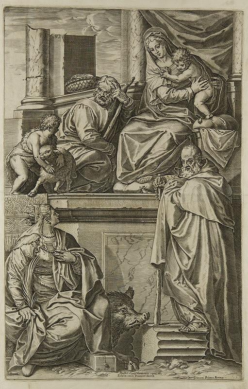 Giacomo Franco, Paolo Veronese, Agostino Carracci – Svätá rodina so sv. Katarínou, sv. Jánom Krstiteľom a sv. Antonom Pustovníkom