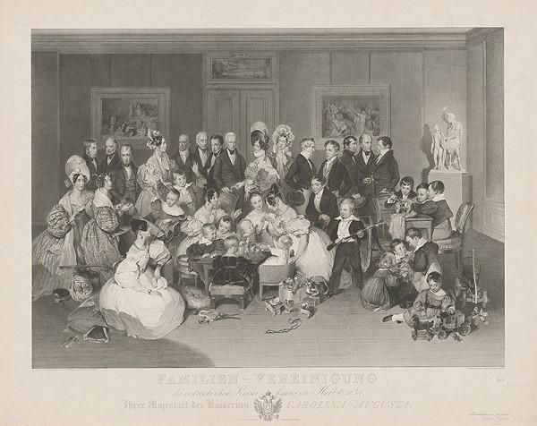 Peter Fendi, Johann Nepomuk Passini - Rodinná podobizeň cisárskej rodiny
