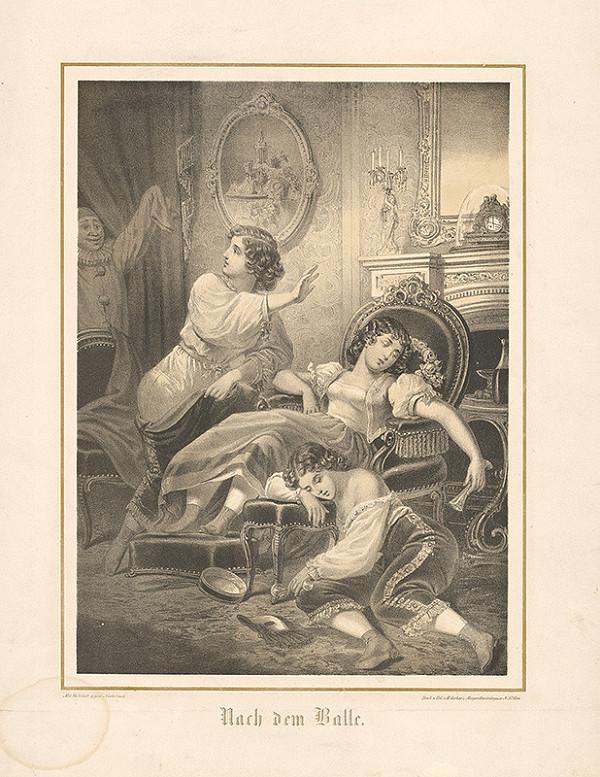 Stredoeurópsky grafik z 19. storočia – Po bále