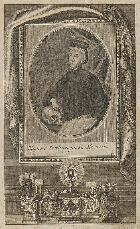 Stredoeurópsky grafik z 18. storočia – Portrét Eleonóry Habsburskej