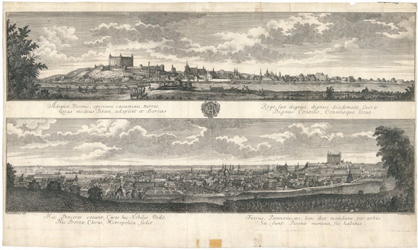 Samuel Mikovíny, Abraham Kaltschmidt - Pohľad na Bratislavu zo severu a z juhu
