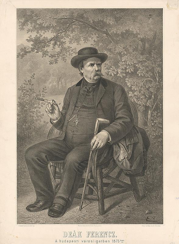 Maďarský grafik z 19. storočia - Portrét F.Deáka