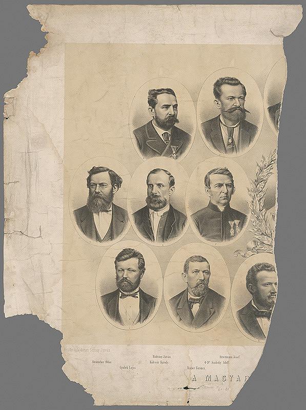 Maďarský grafik z 19. storočia - Významní maďarskí muži